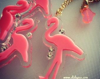 FLAMINGO bubble gum pink laser cut