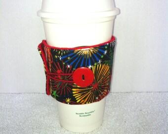 Coffee Cozy-Fireworks (CC 43)