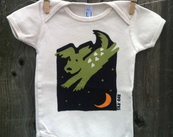 Leaping Puppy, Organic Infant Bodysuit