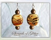 Tiger Swirl Dangle Earrings