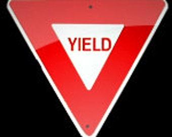 Aluminum Miniature Yield Traffic Sign    Free Shipping