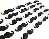 The Black Mustache - Set of 25 Mustache Embellishments