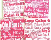 Keep Calm And Have A Cupcake Mini Cards - Set of 4 Cards