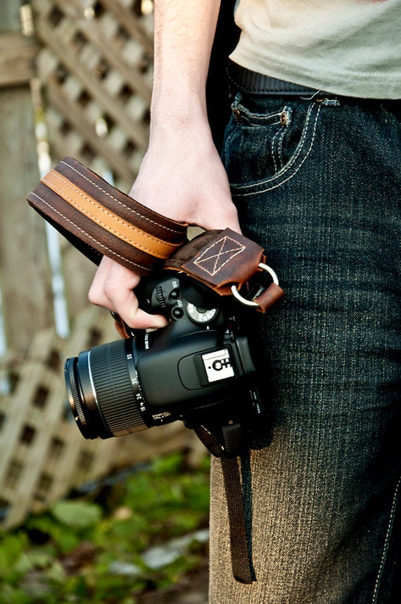 Items similar to LEATHER Camera Strap - PREMIER Edition ... - photo#19