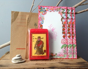 VINTAGE CHINA...collection of Chinatown paper goods - envelopes, school books, invitations supplies