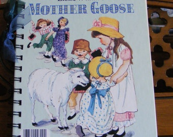 Little Golden Book Mother Goose Recycled Journal Notebook