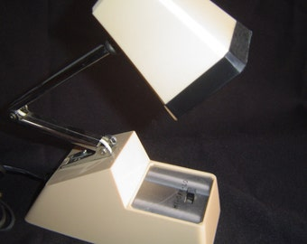 Mid Century Industrial  Vintage Mini Adjustable Neck Desk Light Task Lamp
