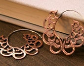Beloved Hoop Earrings - Copper and Sterling Silver - Small