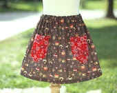 Beginner Skirt Sewing Templateless Pattern Tutorial sizes 3m - 16 girls with pockets PDF Instant