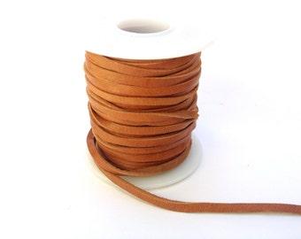 Light Saddletan Deerskin Leather Lace - 50 Foot Spool