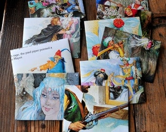 Classic Children's Fables - recycled cook book pages into envelopes