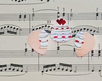 Upcycled plastic cards into Picks for your Ukulele Guitar Mandolin -  Wedding Cake