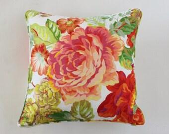 Neon Floral Pillow