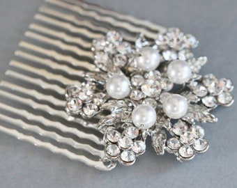 Bridal Comb Wedding Hair Accessories Pearl And Rhinestone Hair Comb Wedding Hair Comb Wedding Headpieces