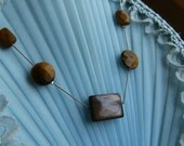 Tiger eye necklace with floating beads.