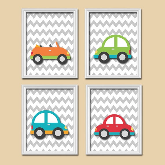 Car Nursery Wall Decor : Cars wall art canvas or prints baby boy nursery decor by