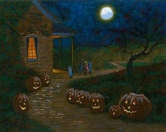 Trick or Treat - 11x14 Acrylic Painting