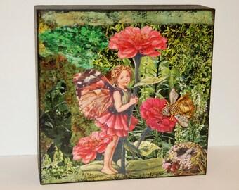 Greenhouse---Original Mixed Media Collage Art