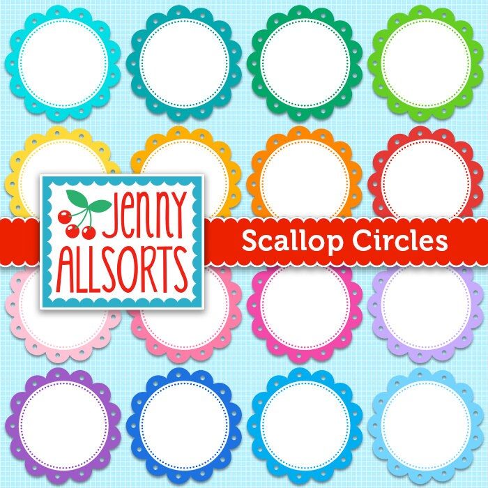 Scallop Frame Png Scallop Circle Frames in