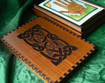 5.8 x 3.8 x 1.125 Cedar Double Knot Card Slim Storage Box