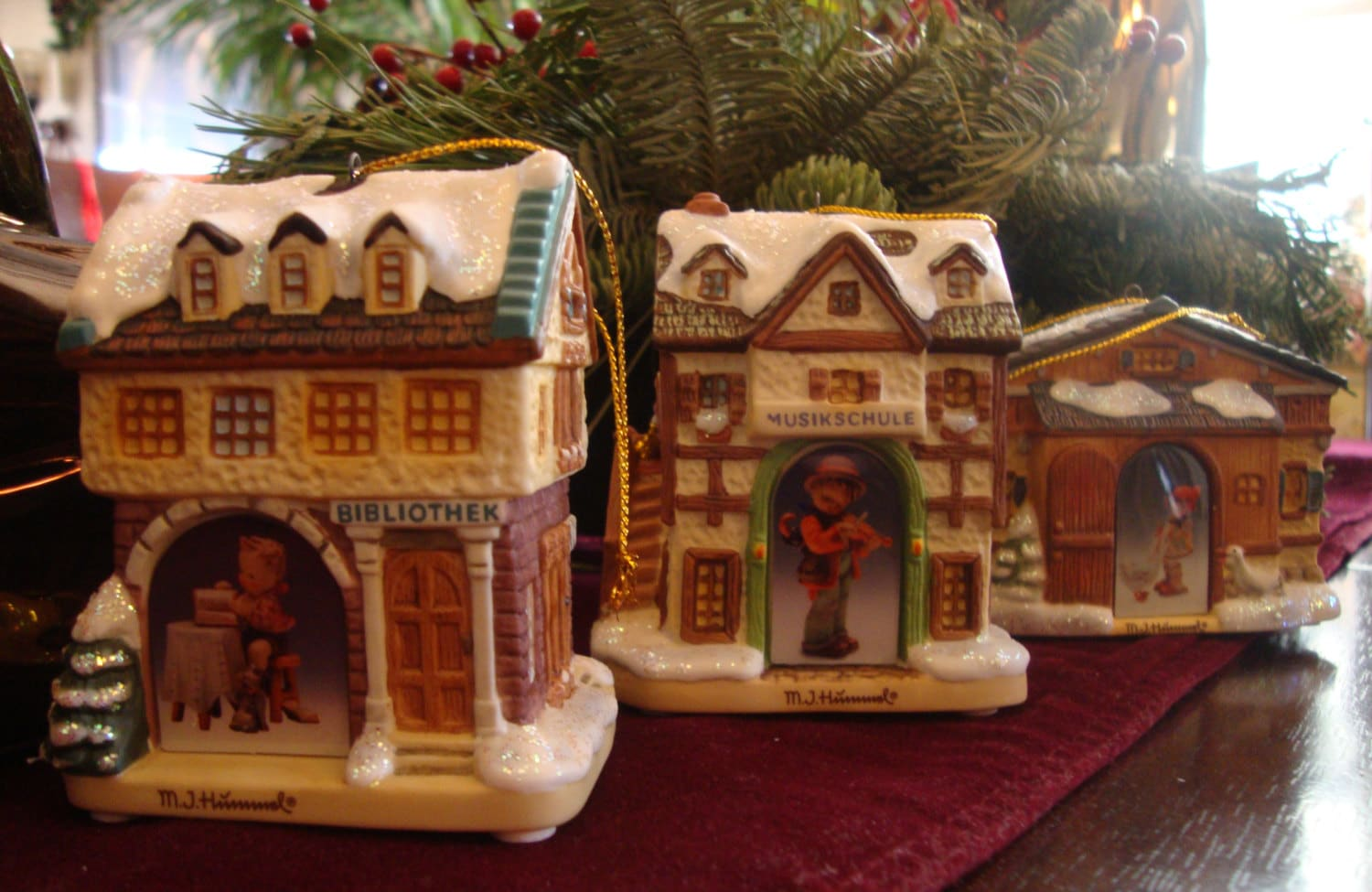 m j  hummel bavarian village porcelain christmas winter