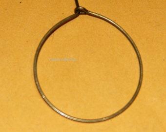 100 pcs of Antique brass earring hoop 25mm