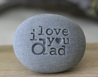 Engraved i love you dad - exclusive design by sjengraving