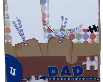 Scrapbook Father's Day Pages 12x12 - KitsNbitScraps