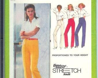 Simplicity Vintage Misses Pants Sewing Pattern 9267 Size U  16-18-20  Waist  30-32-34  UNCUT