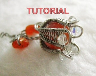 WIRE JEWELRY TUTORIAL - Wire Wrapped Tulip Pendant