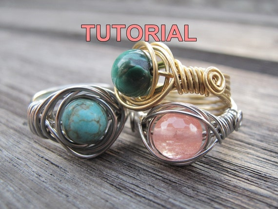 WIRE JEWELRY Tutorial - Twice Around The World (TAW) Wire Wrapped Ring