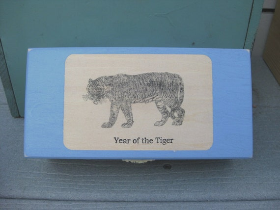 Reserved Listing for Gina Birth Box Year of the Tiger