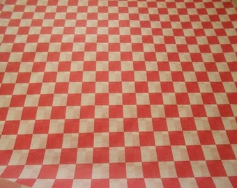 Retro Red and white checkered waxed paper food basket liners hotdogs, hamburgers