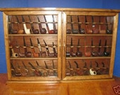 Pipe cabinet rack Smoking Tobacco Pipe Cabinet Rack Stand 42 Pipe Rack Display Churchwarden,Item 190WF