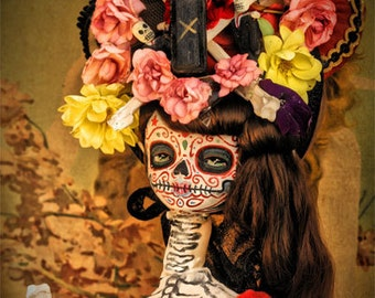 Steampunk Dia De Los Muertos Doll Canon PRINT 354 from Photo/Doll by Michael Brown/UC Studios