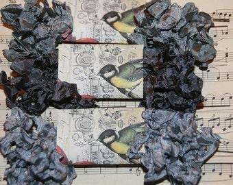 Crinkled Seam Binding  Ribbon 15 Yards - Gray  Trio