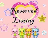 Reserved listing for ctschofield