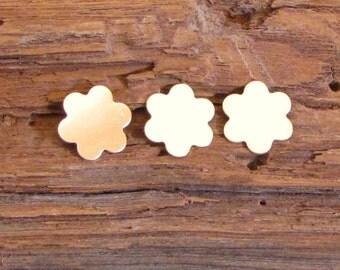 Gold Filled 16mm 5/8 in 24 gauge 3 daisy flower discs double clad earring pendant making