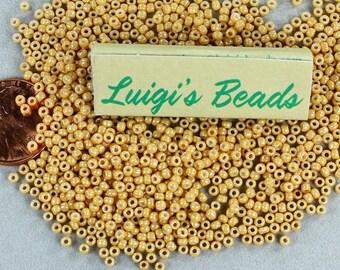 11/o Toho Japanese Seed Beads Opaque-Lustered Dark Beige 15g
