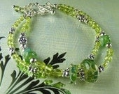 Peridot Gemstone Bracelet (Nadia)  by Gonet Jewelry Design