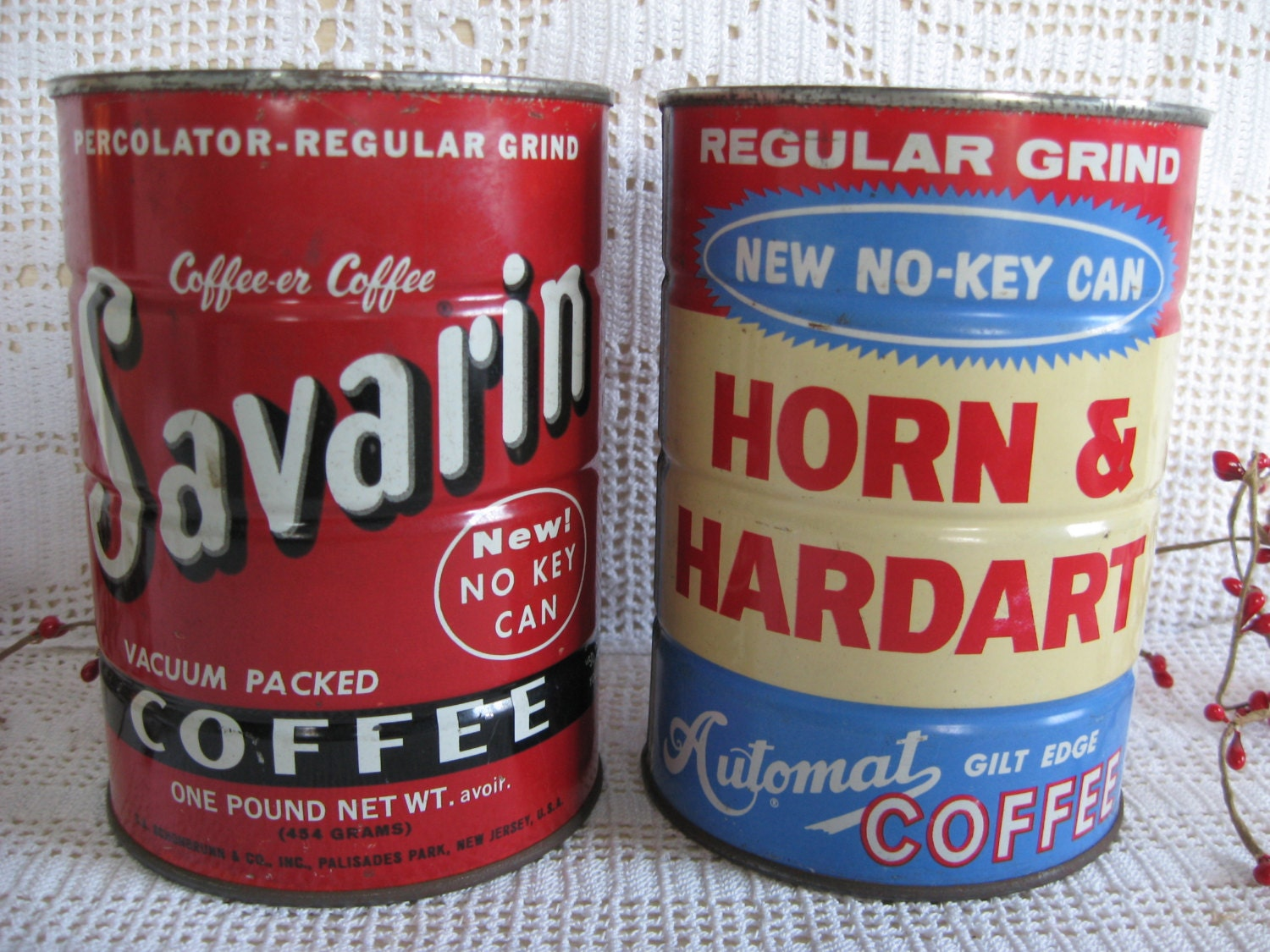 Vintage coffee cans collectible old coffee cans unusual - What are coffee cans made of ...