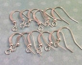 Flat French Ear Wire with Ball Silver 12 Pc. AS258