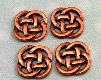 TierraCast Open Celtic Knot Link, Antique Copper 4 Pc. TC37