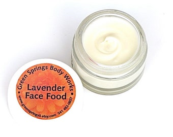 Organic Lavender Face Food Moisturizer-Cream 1 oz