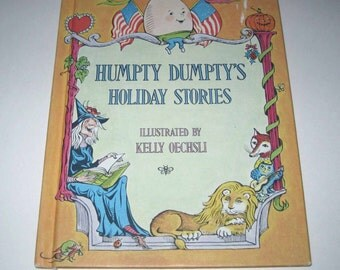 Humpty Dumpty's Holiday Stories Vintage 1970s Children's Book by Scholastic Includes Halloween