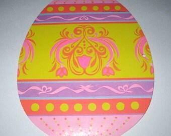 Vintage 1970s NOS Cardboard Easter Easter Egg Die Cut Decoration by Beistle