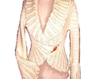 Angelina Vintage Jacket Knitting Pattern-PDF