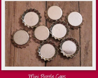 Mini Bottle Caps- Set of 100- Great for earrings, decorative magnets, hair pins, embelishments, rings, pendants, etc