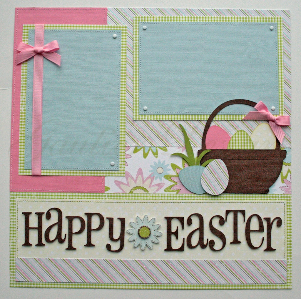 Scrapbook pages happy easter 12x12 premade scrapbook pages - Scrapbooking idees pages ...