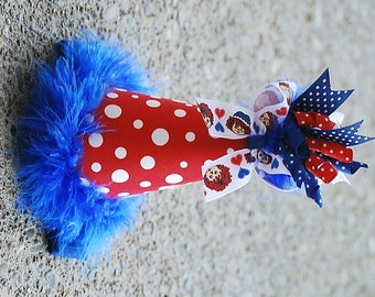boutique RAGGEDY ANN birthday party hat with korker bow and headband